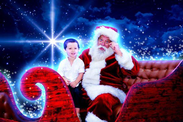 Caroling Company - Santa Claus with boy_thumb